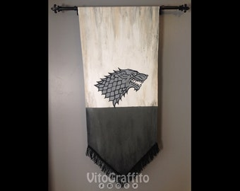 House Stark sigil banner - Game of Thrones