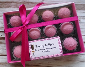 Pretty In Pink Gift Box with Chocolates of Your Choice - Personalised Gift