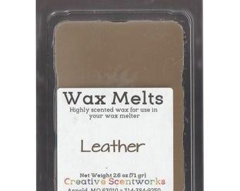Leather Scented Wax Melts, Wax Cubes, Wax Tart, Wickless Candle, Melting Wax, Wax Melt, Scent Bar, Scent Cube, Wax Bar