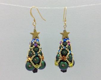 Christmas Tree Earrings - Pattern