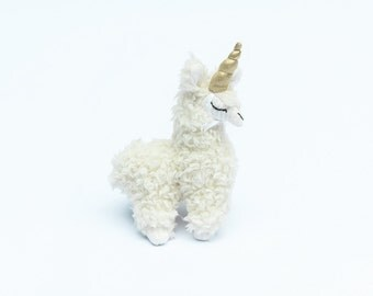 Tiny Llamacorn, Stuffed Llamacorn, small toy