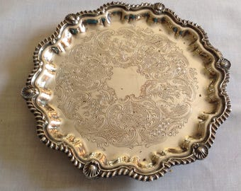 Continental Silver Company Salver Footed Tray