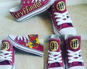 Custom Harry Potter Inspired Gryffindor hand painted shoes...