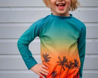 MBJM Reef Beach Rashie pdf sewing pattern (Prem./Small Newborn - Age 12)