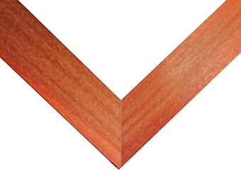 8x8 Frame, Red-Orange Frame, 8x8 Picture Frame, Photo Frame, Square Frame, 8x8 Photo Frame, Red-Orange Wood Frame, 8x8 Wood Frame, 8x8 Frame