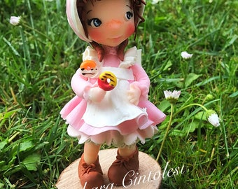 "Cold porcelain doll Ooak doll-Doll-""Mimi""-cold porcelain doll"