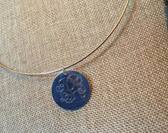 Choker with Blank pendant for monogram