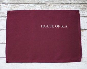 Burgundy Placemat 12 x 16 inches, Burgundy Fabric Placemats for Weddings, Hotels, Catering and Restaurants, Wholesale Burgundy Place Mats