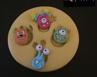 Monsters Silicone Mold