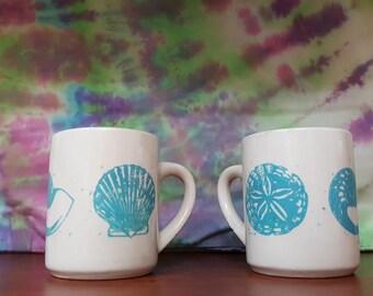 Set of 2 Sea Shell Coffee Mugs