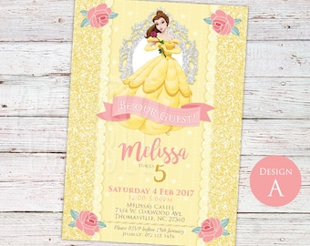 DIGITAL Beauty And The Beast Invitation, Beauty And The
