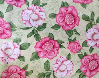 FABRIC -1 yard- Cranston Print Works - Cabbage Floral