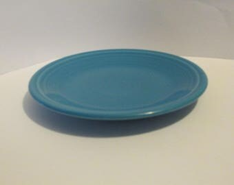 Small Blue Fiesta Plate HLC Homer Laughlin China USA