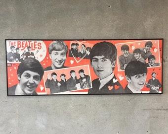 Vintage Beatles Poster  (W168UK)