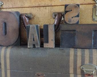 Vintage Wood Letter Press Letters