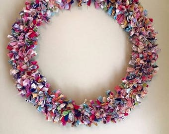 Scrappy Fabric Wreath