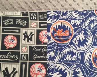 House Divided Baseball Sport Blanket Company Not Affiliated with MLB Yankees Mets