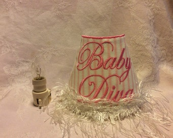 Baby Diva Embroidered Night Light