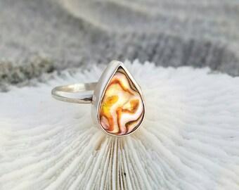 Petite Abalone Ring
