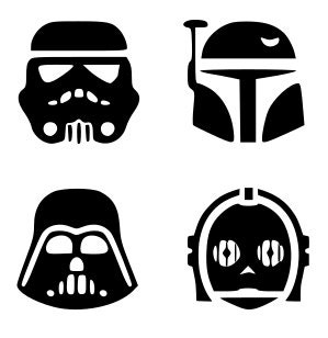 SVG, disney, star wars characters, star wars silhouettes ...