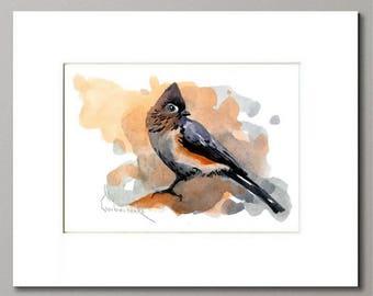 ORIGINAL Watercolor Painting - Matted Watercolor Painting - Watercolor bird art