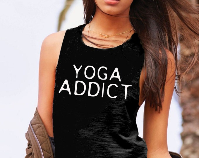 Yoga Addict Muscle Tee