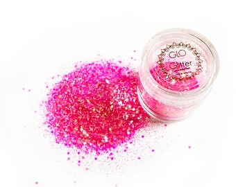 Glow in the Dark Glitter - Hot Pink loose shimmer chunky perfect for festivals