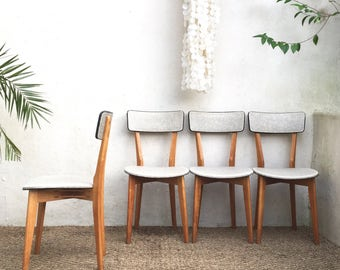 Chaises vintage française  - mid century chairs  - RÉSERVÉ pour Charlotte