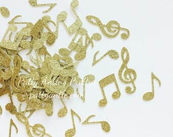 Glitter Music Notes Die Cuts, Glitter Music Notes Confetti, Music Notes Die Cuts, Music Notes Confetti, Recital Confetti, 50 Ct.