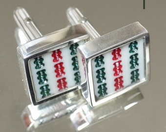 Mah Jong Classic Sterling Silver Cufflinks