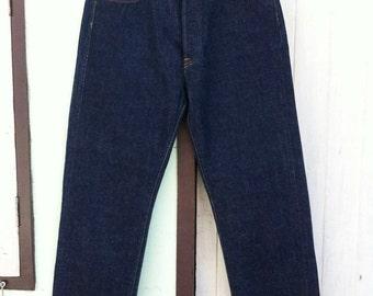 Vintage Levi's 501 Big E 33x30 Dark One Wash !!