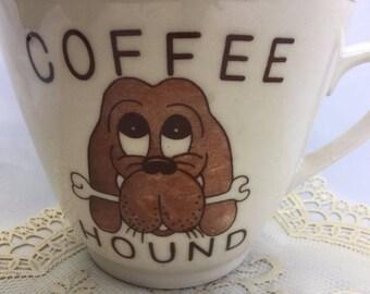 Coffee Mug, Coffee Hound, Vintage China, Jumbo Big Large Oversize, Collectible Mug