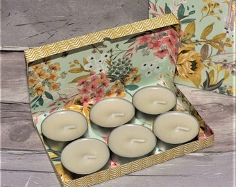 Scented Tea Lights, Candles, Handmade, Home Wares, Gift, Gift Box, Valentines, Birthdays, Mothers Day, Ladies, Friends