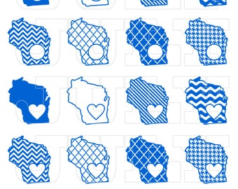 Wisconsin SVG Cut Files, Wisconsin  dxf, Wisconsin  SVG,  dxf, ai, eps, png, Wisconsin  Monogram SVG, Wisconsin State Shapes, Monogram State