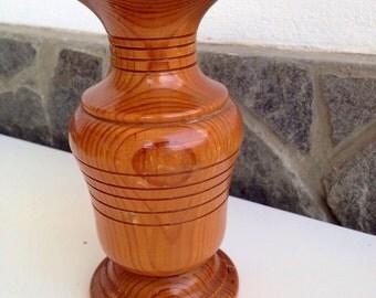Vintage Wood Vase, Wooden art decor Vase, Solid Wood Vase, Natural Wooden Vase, Home Decor, Gift for Her, Wooden art
