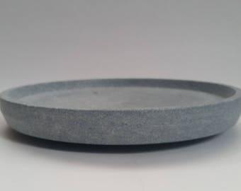 Hand turned soapstone plate