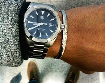 Mens Cuff, Men's Jewelry, Men's Bracelet,Jewelry For Men, Silver Bracelet,Jewelry For Guys,Adjustable cuff,men stainless steel cuff bracelet