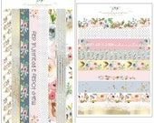 Floral Fashionista Washi Strips Set of 2 Sheets