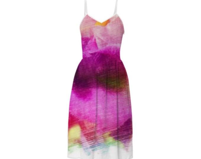 Huge Petals Fashion Summer Dress - Party Dress,Long Dress,Day Dress,Sleeveless Sundress,Braces Floral Dress,Sling Dress,Custom-Made Dress