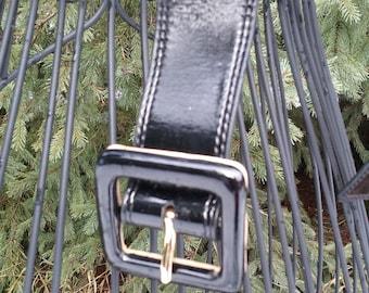 Black Patent Leather Belt - Naturalizer XL