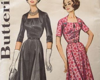 Butterick 2147 vintage 1960's misses dress in half sizes sewing pattern size 18 1/2 size 18.5 bust 39