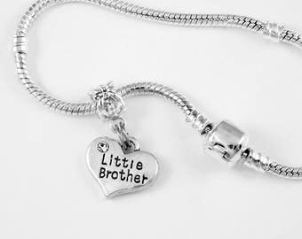 Little Brother Bracelet Little Brother Gift Little Brother Jewelry Little Brother Present European Style Brother Jewelry