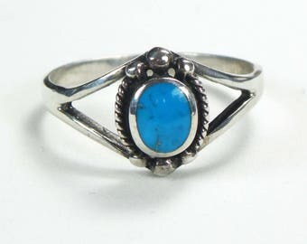 Vintage Sterling Silver Ring Turquoise Silver Ring Sterling Turquoise Ring Sterling Silver Turquoise Ring Turquoise Sterling Ring Size 9