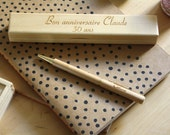 Custom pen, personalized box with text name engraved, personalization of your gift, Wedding, birthday retirement unique gift, wooden case