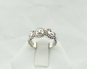 Fun In The Sun With This Solid Sterling Silver Smiling Sun Ring  #SUNRNG-SR1