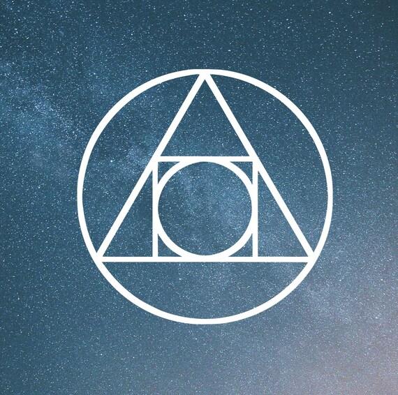 Mental Alchemy Symbol Die Cut Decal Car Window Wall Bumper