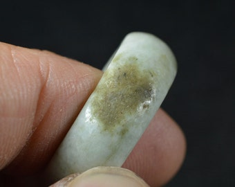 Natural Jade Ring Classic Round Size 8 0046