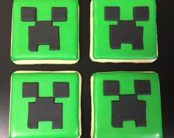 Minecraft Sugar Cookies - Creeper