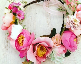 Small Adult Flower Crown, Flower Crown, Adult Flower Crown, Flower Halo