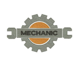 Mechanic Embroidery Design - Instant Download